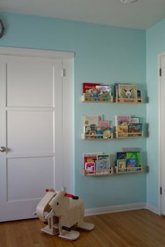 A place for books - Ikea spice racks for storage