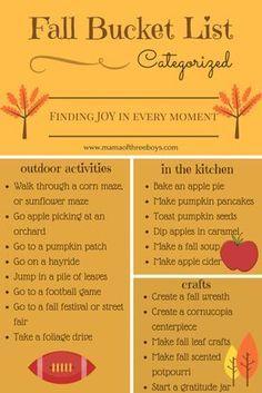 Fall Bucket List (free printable) family friendly