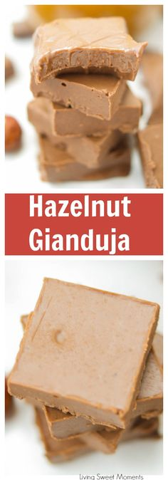 Melt in your mouth Homemade Hazelnut Gianduja Squares are made w/ tempered chocolate & praline paste. Enjoy these confections at home with this easy recipe. More candy recipes at livingsweetmoments.com  via @Livingsmoments