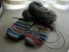 Knitting two socks at a time, magic loop, toe up. TheDudeWhoKnits