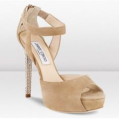 Jimmy Choo metallic Surf platform sandals  $394.00