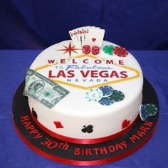 Las Vegas Birthday Cake - For all your cake decoration supplies, please visit craftcompany.co.uk