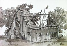 Urban Sketchers Seattle: Old Barn