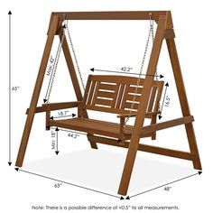 Outdoor Furniture Plans, Diy Furniture, Diy Wood Projects, Woodworking Projects, Porch Swing With Stand, Backyard Swings, Teak Oil, Wooden Swings, Swing Seat