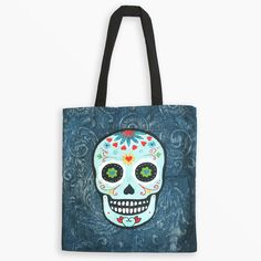 Tote Bag - Calavera by Laura Gotti French Artists, Reusable Tote Bags, Prints