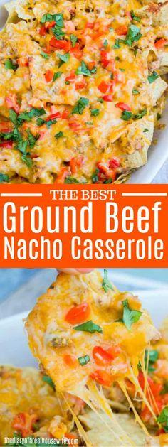 We love this Easy Nacho Casserole! We love this Easy Nacho Casserole! Broccoli and Mushroom Stir-Fry - Vegan Recipes - banana avocado brownies - no sugar - trendmum - Kuchen kalorienarm Gourmet Recipes, Mexican Food Recipes, Vegan Recipes, Cooking Recipes, Beef Nacho Recipes, Mexican Dishes, Crockpot Recipes, Easy Recipes, Soup Recipes