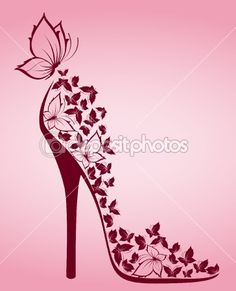 Illustration about High heel from beautiful butterflies, illustration for a design. Illustration of illustration, girl, butterfly - 19959129 Arte Fashion, Shoe Art, Blue Butterfly, Butterfly Shoes, Simple Butterfly, Flower Shoes, Beautiful Butterflies, Fashion Sketches, Wallpaper Backgrounds