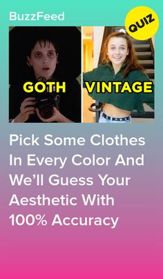 Wanna Know Your Aesthetic? Pick Some Clothes In Every Color To Find Out I got Vintage Buzzfeed Personality Quiz, Fun Personality Quizzes, Buzzfeed Quiz Crush, Buzzfeed Test, Quizzes Funny, Random Quizzes, Fun Quizzes To Take, Quizzes For Teenagers, Aesthetic Quiz