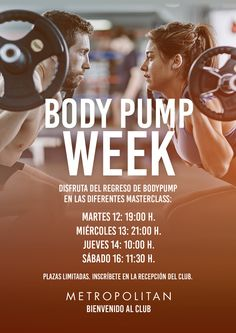 Master Classes de Body Pump en Metropolitan Vigo.