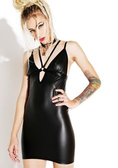 Current Mood Bomb Harness Mini Dress