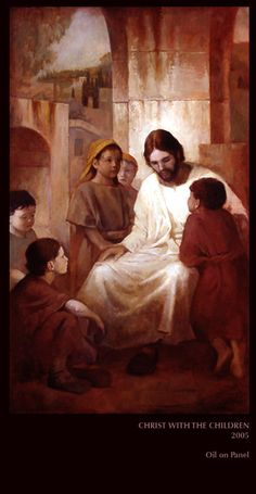 Christ With The Children  by J Kirk Richards