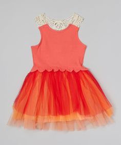 Watermelon Crocheted Skirted Dress #zulily *How cute!