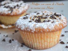 Muffin+con+cuore+di+Nutella