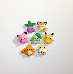 Cute Handmade Pokemon charms by Vikscrafts on Etsy Informations About Items similar to Cute Handmade Polymer Clay Kawaii, Fimo Clay, Polymer Clay Charms, Polymer Clay Art, Polymer Clay Jewelry, Clay Pokemon, Pokemon Craft, Polymer Clay Miniatures, Polymer Clay Creations