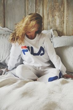 Molly Rustas wearing the JUNKYARD XX-XY // FILA collab.