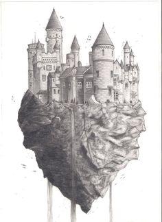 flying castle by zealot123 on deviantART