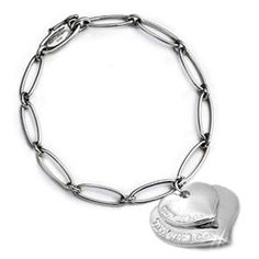 Cheap Tiffany And Co Outlet Elsa Peretti Double Hearts Bracelets Large Great Quality | Tiffany Co Silver Heart Bracelet