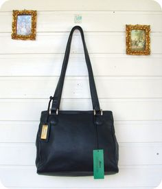 520b1d551ed34 HANSSON Leder Tasche Handtasche Bag Leather Purse Handbag Schultertasche  Blau in Kleidung   Accessoires