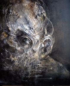 Shades of Melancholy Art by Eric Lacombe Dark Portrait, Abstract Portrait, Arte Horror, Horror Art, Art Sinistre, Badass Drawings, A Level Art, Creepy Art, Art Graphique