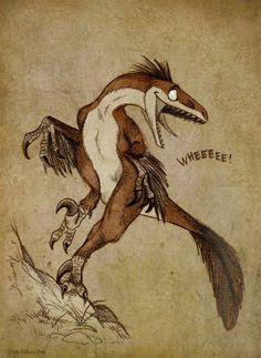 Deinonychus goes WHEEE