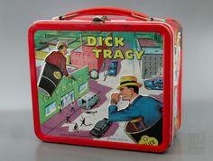 Dick Tracy - Lunch Box - Metal - 1967   Alladdin - artist - Robert O Burton and Elmer Lehnhardt