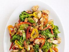 Chicken and Broccolini Stir-Fry Recipe courtesy Food Network Magazine