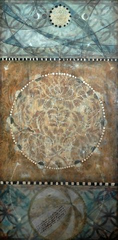 """""""Tapestry"""", Michaelle Peters, Charlwood, michaellepc.com / encaustic, oil, mixed media on panel, 12x24"""""""