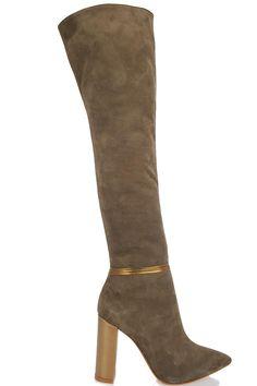 Cizme peste genunchi tocuri culori diferite Heeled Boots, Heels, Fashion, High Heel Boots, Heel, Moda, Heel Boots, Fashion Styles, Boots