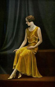 """Les Modes (Paris) 1930 """"Bouton D'or"""" Robe de Petit Diner. Creation de Callot Soeurs"""