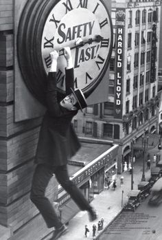 Safety Last! Harold Lloyd. Notice the name of the department store?