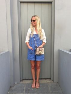 Martha Ward in dungarees marthamagpie.com