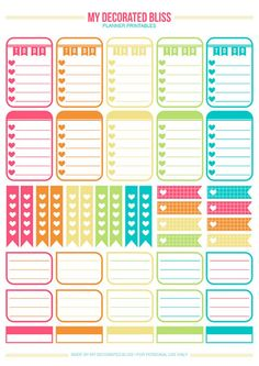 happy planner printable