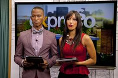 Katlego Maboe and Leigh-Ann WIlliams Leigh Ann, Morning Show, Photographic Studio, Tv On The Radio, South Africa, Model, Head Start, Pattern