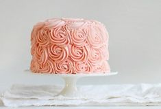 SO excited to share with you how easy it is to make the rose cake. (Video tutorial HERE. In four minutes I frost an entire three layer Rose Cake!) Seriously, once you see you are going to run right out, buy a tip, and make one. That or go back to work. Pink Velvet Cakes, Red Velvet, Rose Cake Tutorial, Pink Ombre Cake, Pink Rose Cake, Coral Cake, I Am Baker, Cake Videos, Cake Decorating Tips