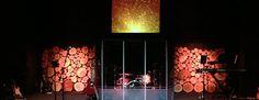 Log Stacks | Church Stage Design Ideas