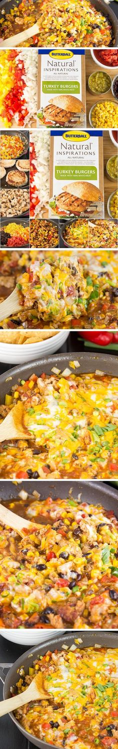 This ONE POT CHEESY TURKEY TACO SKILLET is ready in under 30 minutes. Bursting with the flavor tacos, hearty, healthy and easy to clean-up, this will be a go-to meal your family will love. It can be served over rice, cauliflower rice, or tortilla chips.
