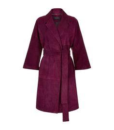 Women: Coats Escada Lush Suede Coat