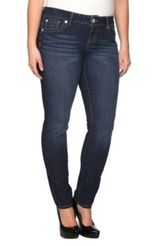 "I love these jeans! Everyone ask me where I get em... Here ya go... Sz 12 and up ...curvy girls:   Torrid Denim - ""Sophia"" Blue Washed Skinny Jeans (Extra Tall)"