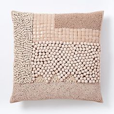Mixed Beaded Pillow Cover - Blush #westelm