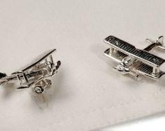 Sterling Silver Bi-Plane cufflinks