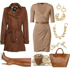 I would probably tone down the accessories, but cute dress and jacket!