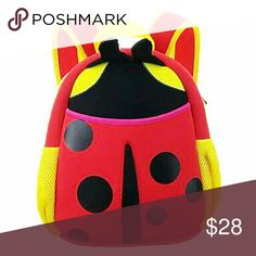Brand new with tag Preschool Little Kid Backpack Neoprene Animal, Seven spotted lady beetle Bags Backpacks