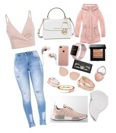 """""""Rose gold """" by kennade123 on Polyvore featuring Michael Kors, Topshop, Belkin, Bobbi Brown Cosmetics, Boohoo, Too Faced Cosmetics, Tory Burch, Old Navy, Andrew Marc and Le Amonie"""