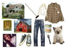 """""""I found this cutie while fixing up the barn- Dawn"""" by burntvanilla ❤ liked on Polyvore featuring Retrò, MSGM, Colorhouse, Converse, PERIGOT, women's clothing, women, female, woman and misses"""