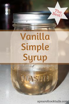 Homemade Vanilla Simple Syrup - Homemade Vanilla Simple Syrup is easy to make and adds a great flavor to your cocktails. Simple Syrup For Cakes, Make Simple Syrup, Simple Syrup Recipe Drinks, Simple Sugar, Homemade Syrup, Homemade Vanilla, Vanilla Syrup For Coffee, Starbucks Vanilla Syrup Recipe, Recipes