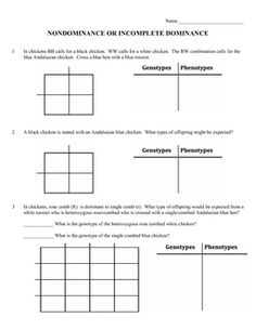 Worksheets Monohybrid Crosses Worksheet Answers different types of and factors on pinterest the worksheet has 10 practice problems incomplete dominance or nondominance students will determine