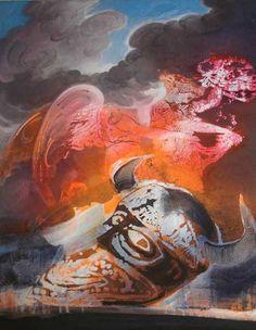 """http://www.piziarte.net/ #Opera #presente NEL #MAGAZZINO_DI_PIZIARTE #PAOLO_BARATELLA  """"Arianna e il Minotauro"""" 1995 olio su tela cm 100 X 80  #artecontemporanea #contemporaryart #artista"""