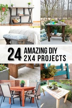 Wow! Love all these projects! If you are looking for easy DIY 2x4 woodworking projects, don't miss this! Includes outdoor projects, furniture - simple scrap wood ideas and more! #anikasdiylife