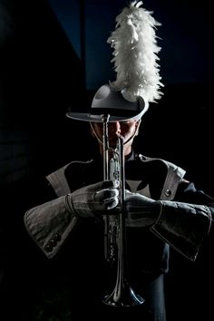 It doesn't matter if you can't see his face-or even any skin, drum corp makes men attractive.