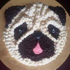 Pug cake Pug Cupcakes, Pug Cake, Cupcake Icing, Cupcake Cakes, Pug Birthday Cake, Puppy Birthday, Dog Paw Cream, Dog Wallpaper Iphone, Carlin
